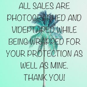 ALL SALES VIDEOTAPED AND PHOTOGRAPHED!